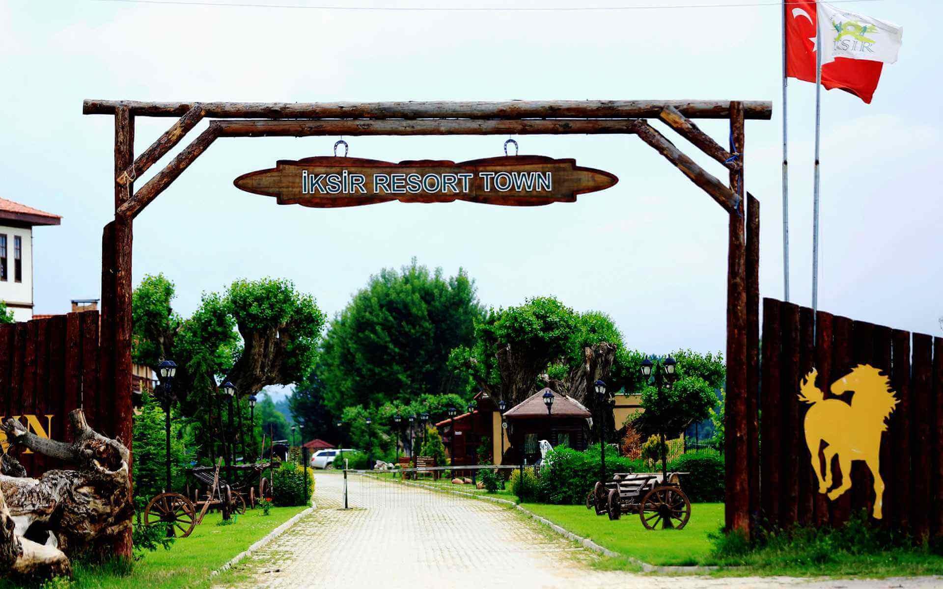 İksir Resort Town Giris Gorunumu