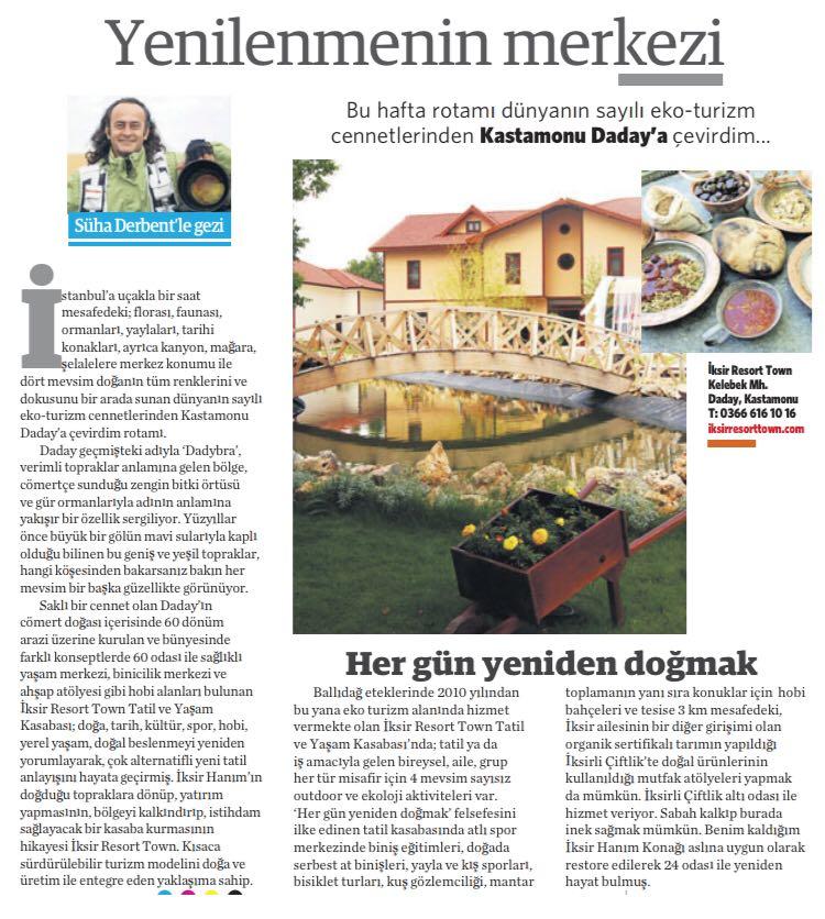 İksir Resort Town Ulusal Gazete Haberleri