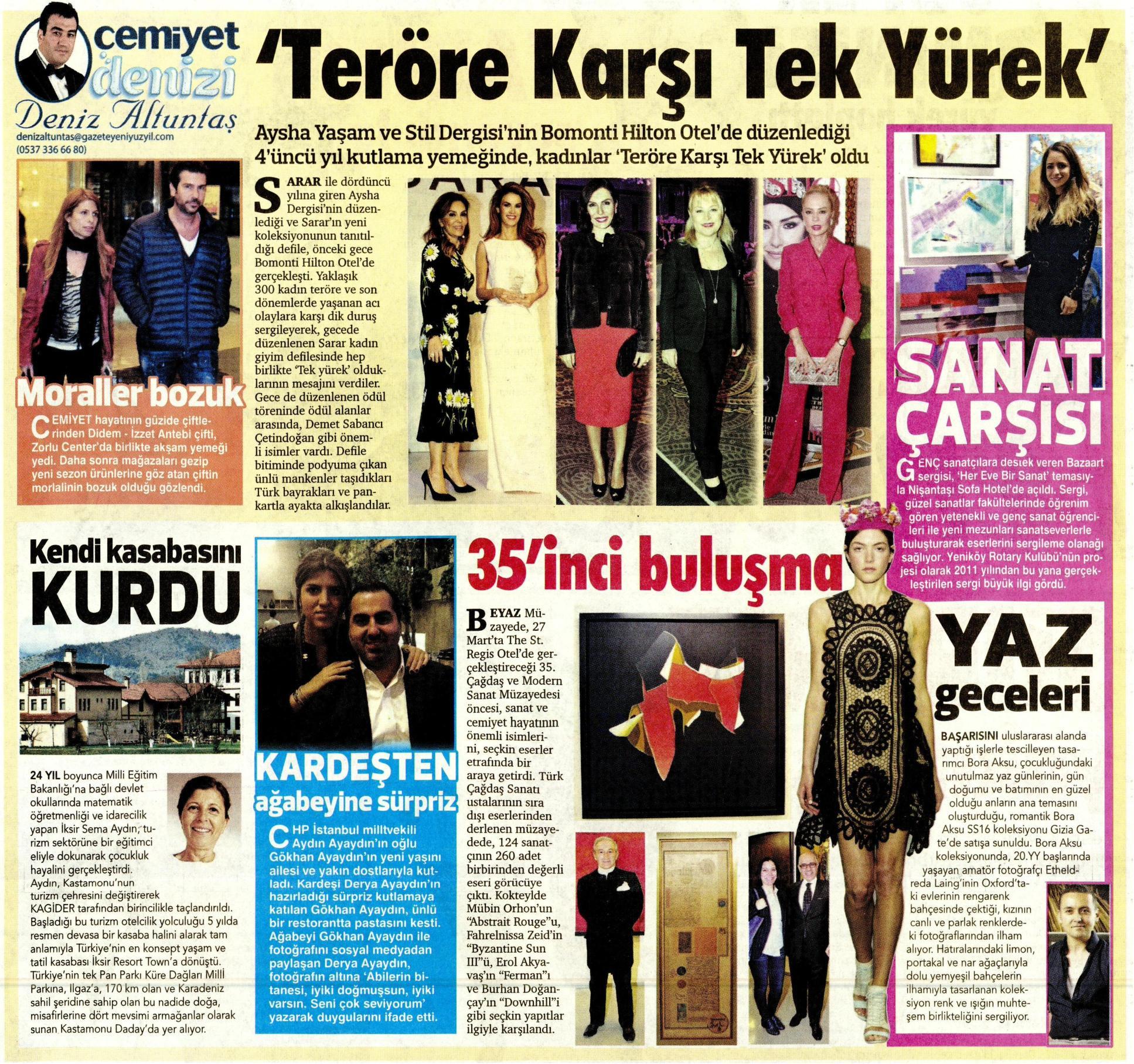 Yeni Yüzyıl Gazetesi - Rengarenk Eki - 24 Mart 2016