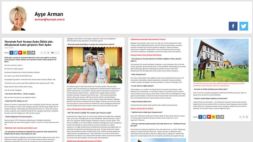 Hürriyet Gazetesi - Ayşe Arman - 10 Kasım 2017