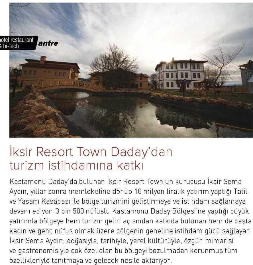 Basında İksir Resort Town Kastamonu Oteli Hi Tech 01 06