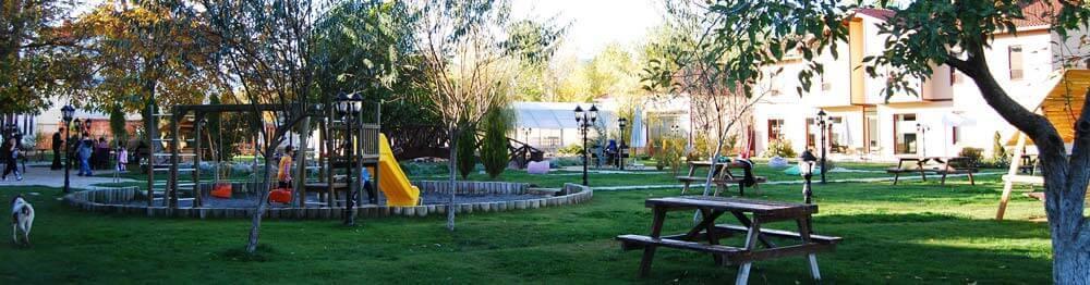 İksir Resort Town Kastamonu Avlu ve Bahçe Alanı