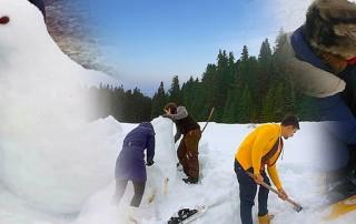 İksir Resort Town Kardan Heykeller Şenliği