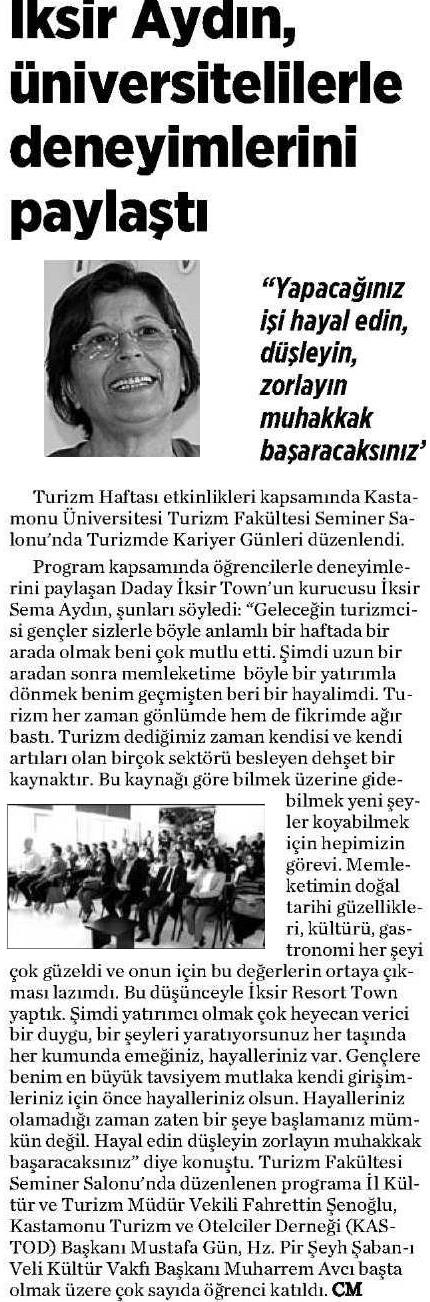 Kastamonu Gazetesi - 21 Nisan 2016