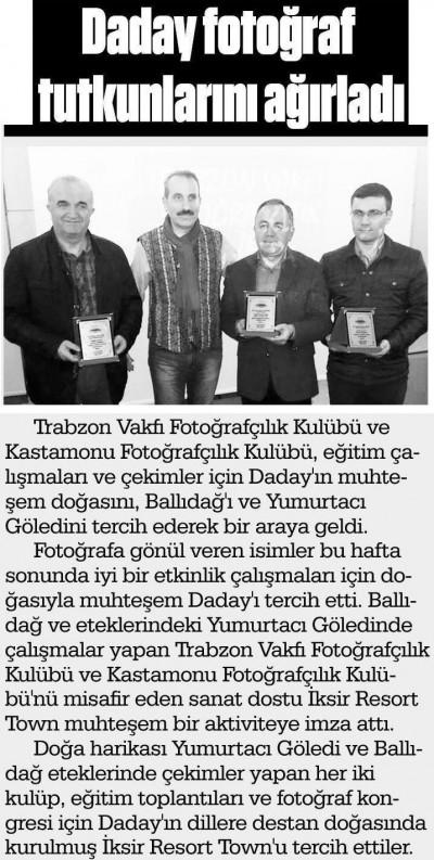 Kastamonu Açıksöz Gazetesi – 29 Şubat 2016