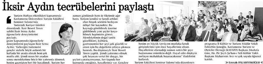 Kastamonu Gündem Gazetesi – 20 Nisan 2016