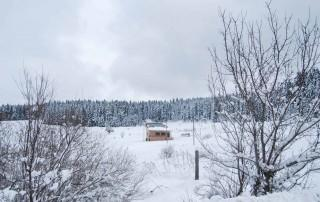 Kış Mevsiminde Ballıdağ Soğucaova, İksir Resort Town Dağ Evi