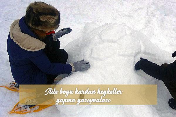 Aile boyu kardan heykeller yapma yarışmaları