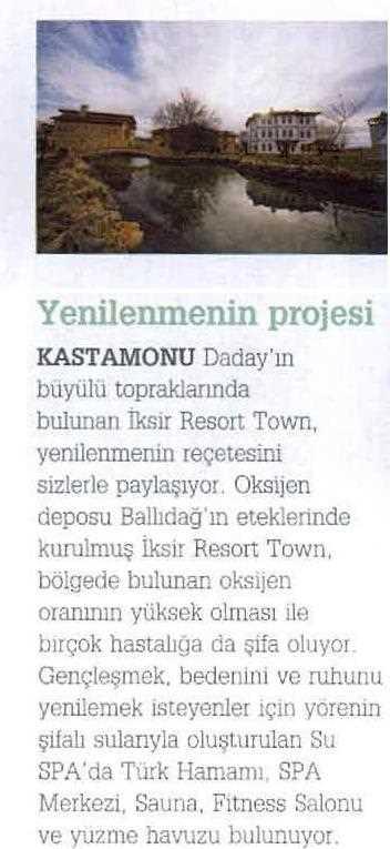 Basında İksir Resort Town Kastamonu Oteli World Wide Traveller 01 -05