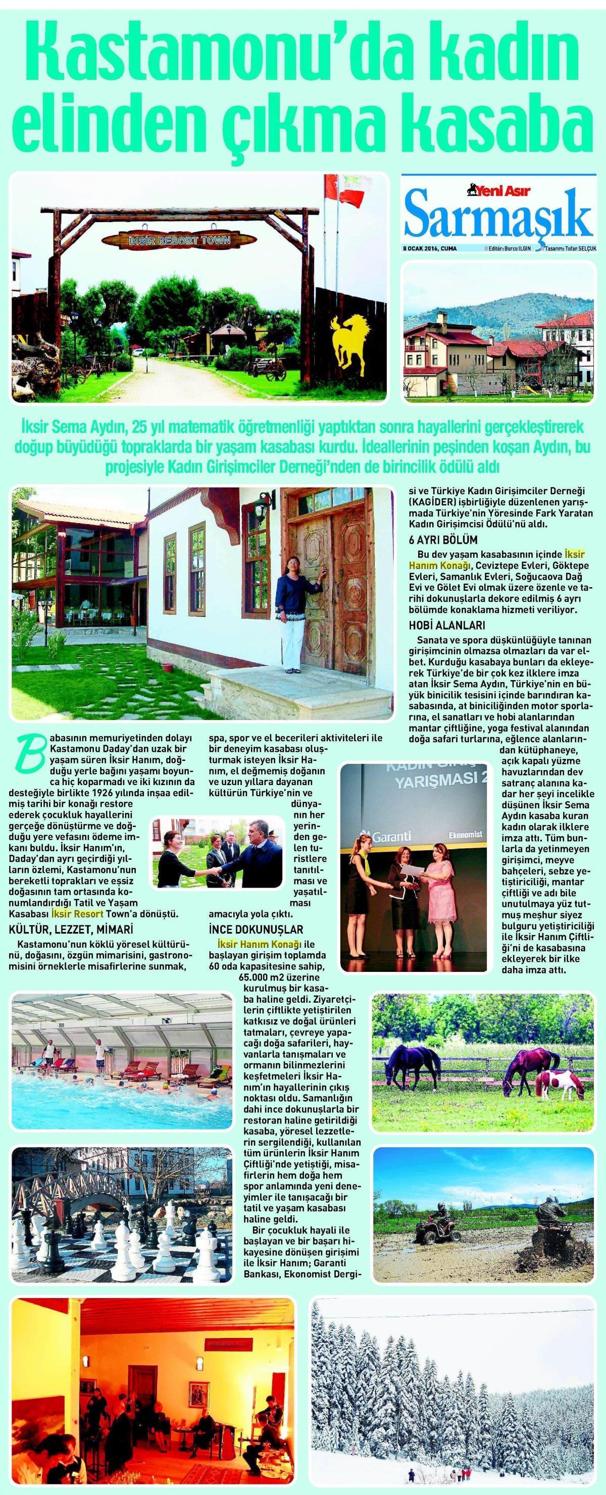 Yeni Asır Gazetesi – 8 Ocak 2016