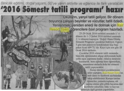 Yeni Gün Gazetesi – 16 Ocak 2016
