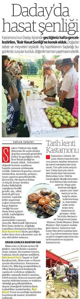 Yeni Şafak Gazetesi – 06 Eylül 2015