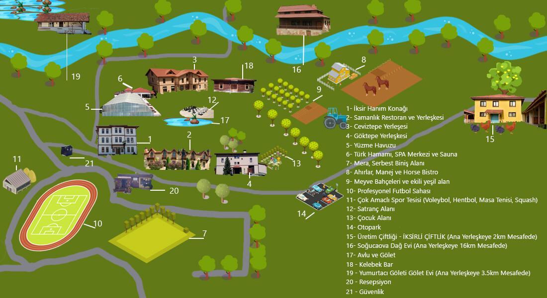 İksir Resort Town Yerleşim Haritası